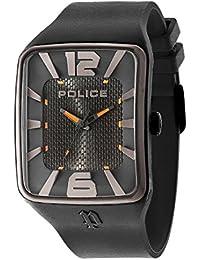 Police PL.94741AEU/02P - Reloj de cuarzo para hombres con esfera negra y correa negra de silicona