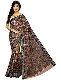 Rani Saahiba Women's Cotton Saree With Blouse Piece (Skr1857, Beige, Free Size)
