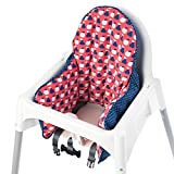 IKEA Antilop Highchair Cushion Cover Red/Blue (Cover Only)