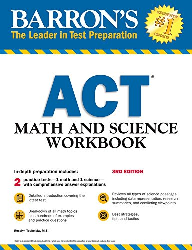 Barron's ACT Math and Science Workbook (Barron's Test Prep) - Barron Act-test