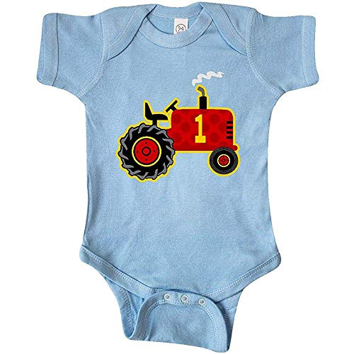 Sweet grape Inktastic - red Tractor 1 Year Old Baby Crawling Suit 24Months