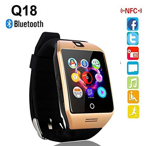 Micromax Joy X1800 {{ COMPATIBLE }} High quality smart calling watch with all functions of smartphones 2017 Newest Q18 Smart Watch Bluetooth Smartwatch Phone with Camera TF SIM Card Slot by sontiga  available at amazon for Rs.2199