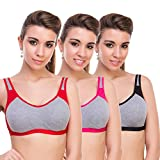 #7: Alive Cotton Mix Women Lingeries Set Pack of 3 in Multicolor