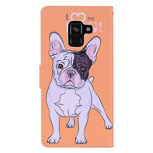 COZY HUT Samsung Galaxy A8 2018 Case, Premium Leather Wallet Case, [Kickstand] [Card Slots] [Magnetic Closure] Flip Case for Samsung Galaxy A8 2018 - Love Puppy  COZY HUT