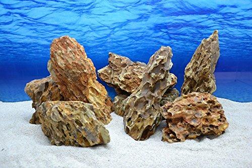 Aquarium Deko Drachenstein braun 2-3 Kg Dekoration Felsen Natursteine Nr.64