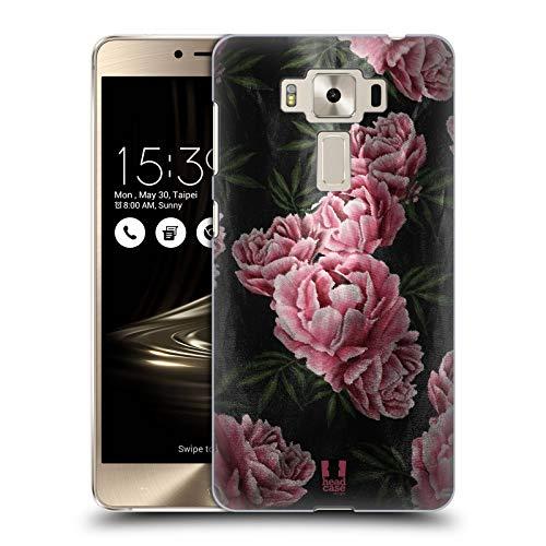 Head Case Designs Pink Rosen Satin Blumiger Druck Ruckseite Hülle für Zenfone 3 Deluxe 5.5 ZS550KL