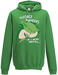 Inspired FUNNY Yoda galaxy cute sleeping force star awakens in few minutes for war Printed Hooded sweatshirts, hoodies in Adult and Kids sizes
