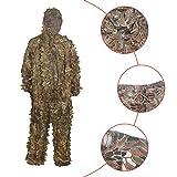 HYFAN Ghillie Anzüge 3D Blätter Wald Camouflage Kleidung Outdoor Army Military Camo Kleidung für Jungle Jagd, Paintball, Airsoft, Wildlife Fotografie (Sand)