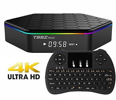 EVANPO T95Z PLUS Android TV Box Amlogic S912 Octa-core Speed, Dual WIFI 1000M LAN, 4K2K, Bluetooth, 2GB/16GB KODI 16.1 Fully Loaded Smart Mini PC Streaming Media Player with H9 Wireless Keyboard
