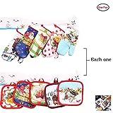 Hemore Weihnachtszubehör, Isolierhandschuhe für die Mikrowelle, 2 Stück