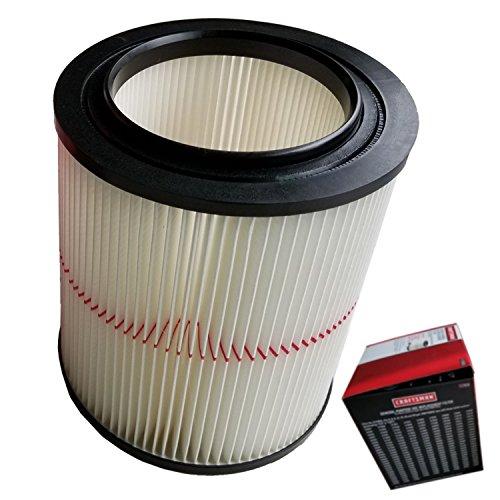 TeKeHom Vakuum Filter für alle gängigen Shop Vac/Craftsman 17816, 9–17816Ersatz Wet Dry 5Gallonen und vor (Filter 17816)