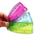 Oyfel Règle en Plastiques Fournitures Scolaires Papeterie Cadeau 20cm 3 Pcs Couleur Style Aléatoire