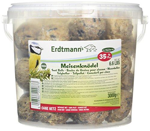 Erdtmanns 35 Meisenknödel ohne Netz im Eimer, 1er Pack (1 x 3 kg) (Große Netze)