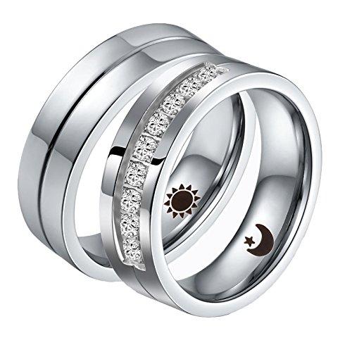 Ringe Band Ring Valentine Liebe Paare Hochzeit Engagement Versprechen Größe 57 (18.1) & 65 (20.7) ()