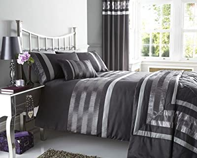 New Charcoal Grey Pintuck Designed Bedding - Matching Items Available