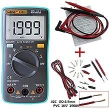 UEETEK Multímetro Digital Autorango Automático Voltímetro AC DC Amperímetro Ohmímetro Tester con ...