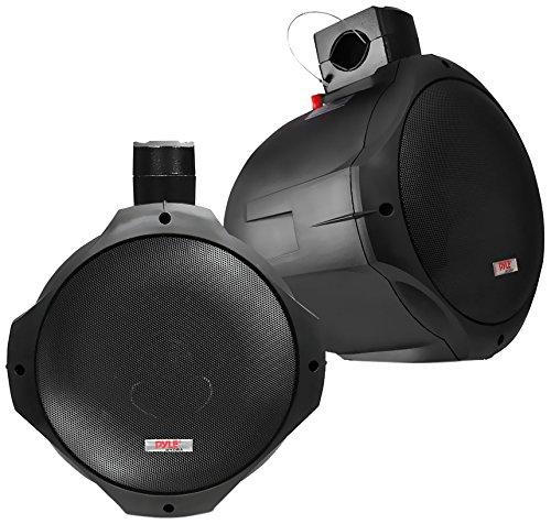 Pyle Wasserdichte Lautsprecher 8-Zoll 300-Watt Zwei-Weg Wakeboard, Schwarz, PLMRB85