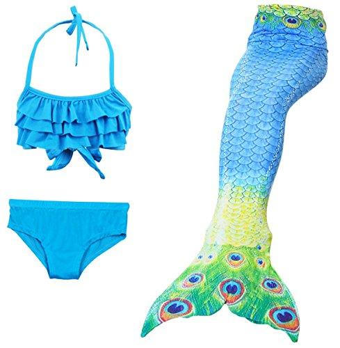 LCXYYY Mädchen Meerjungfrauen Tankini Bikini Set Schwimmanzug Badeanzüge -