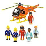 Feuerwehrmann Sam Bergrettung Hubschrauber & 5 Abbildung Articulated Set