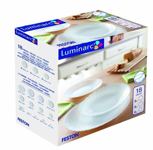 Luminarc Feston D8786 vajilla, 18 Piezas