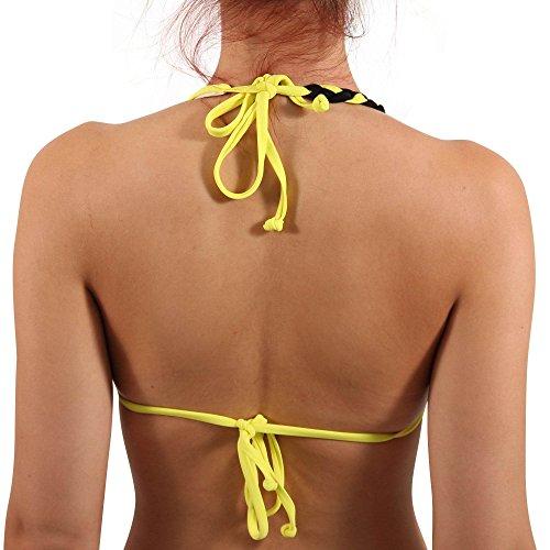 DIESEL Damen Triangel Bikini Oberteil SUSRF BRA in Gelb Gelb