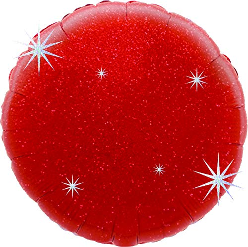 Suki Gifts S9601352 Helium Ballon gonflable holographique Rouge