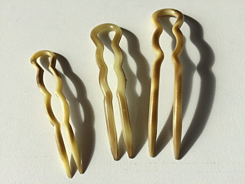niavida 4 x Frisurenhilfe Haarnadel 9 cm beige blond Pin Spange Hair Styling