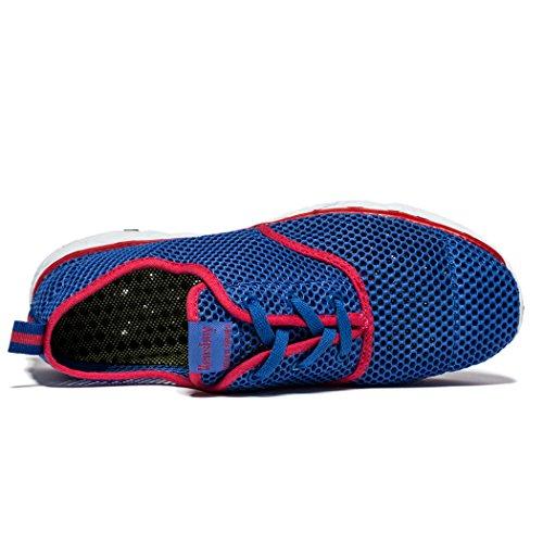 Daillor Uomo Veloce Asciugatura Allacciatura Aqua Scarpe Outdoor Blu / Rosso