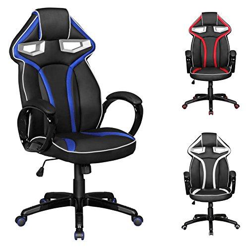 finebuy-racestar-gaming-sedia-similpelle-nei-colori-nero-blu-sedia-da-scrivania-in-similpelle-corsa-