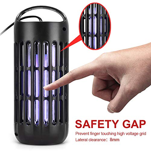 AUTSCA Lampe Anti-Moustique Anti-UV tuent Les moustiques, adaptée pour l'intérieur et l'extérieur Zone de Travail Efficace 50-60 Mètres Carrés