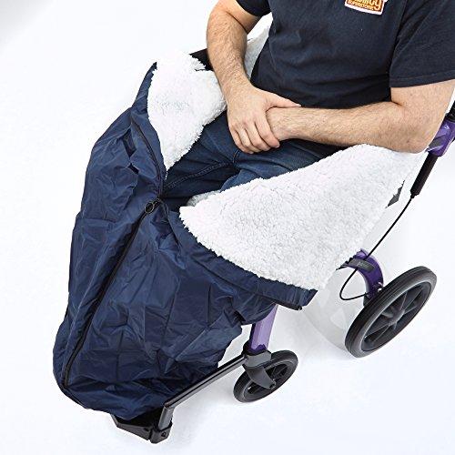 51iLB05HzfL - Ability Superstore - Saco para silla de ruedas (99 x 77 cm)