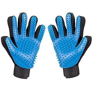 ANPHSIN 2PCS Haustier Handschuhe für Hunde Katzen Kaninchen usw, Pet Bürste Haarentfernungsbürste beim Pflegen Massage Baden