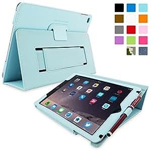 Étui iPad Air & Nouvel iPad 9.7 (2017), Snugg™ - Housse de Protection en Cuir Bleu Clair, Style Smart Case Avec Garantie à Vie Pour Apple iPad Air (2013) & Nouveau iPad 9.7 (2017)