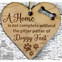 Engraved Wooden Dog Lover Hanging Plaque Decoration Gift Idea For Crazy Dog Lady Dogs Lovers Friends Couple Men Women Her Him Family Boyfriend Xmas Gift Idea