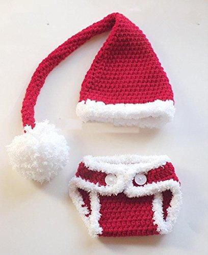 Jastore ® Foto Fotografie Prop Baby Kostüm rot Weihnachts häkel Stricken (Baby Kostüme Weihnachten)