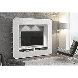 Mueble de salón, salón-comedor moderno, Librería elegante WALLY - con iluminación LED opcional (LED blanco)