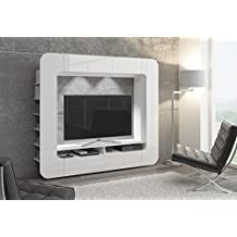 mueble de saln salncomedor moderno librera elegante wally con iluminacin led
