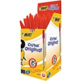 BIC Cristal Original Ballpoint Pens Red 50 Box