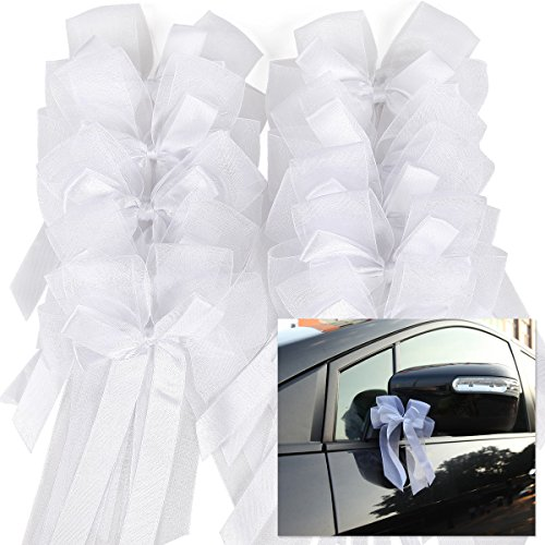 CLE DE TOUS - 10pcs lazos tul blanco decorar boda