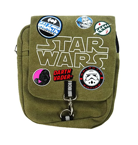 Star Wars Cross Body Bag Münzbörse, 25 cm, Grün (Khaki) (Body Cross Patch)