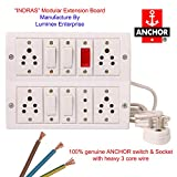 #9: Switch Board Spike Buster Fitted with 5 Anchor Sockets(5 Amp),4 Anchor Switches(5 Amp)Anchor Indicator And 4 Metre Wire With 5Amp Plug