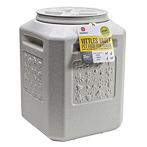 Gamma Vittles Vault Plus with Paws Pet Food Storage Plastic Container Seal 35lbs