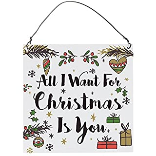Dorothy Spring All I Want For Christmas Is You Cute Romantic Wall Metal Plaque Sign Size 4 inch X 4 inch