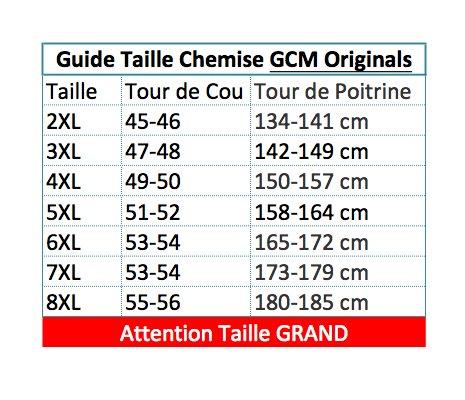 Chemise Jean du 2XL au 5XL GCM Bleu