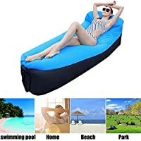 Fansport Outdoor Air Sofa Air Lounger Portable Waterproof Air Couch for Camping Travel Beach (blue2)