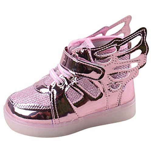 Sunching-Nio-Nios-Nias-Zapatillas-LED-Light-Up-Zapatos-Con-Angel-Wings