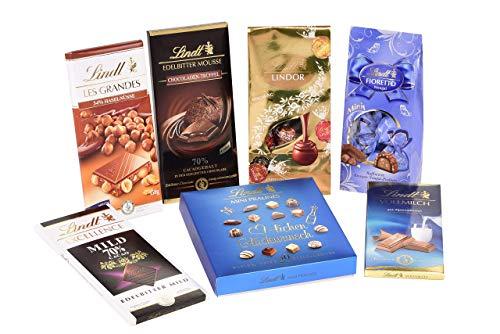 Lindt Klassiker Set, beinhaltet 7 beliebte Lindt Chocoladen und Pralinés, ein köstliches Probierset zum Genießen oder Verschenken, 1er Pack (1 x 0.852 kg)