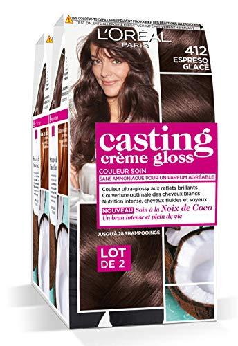 L'Oréal Paris Casting Crème Gloss Coloration Ton Sur Ton Sans Ammoniaque 4.12 Expresso Glacé Lot de 2