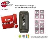 Interphone vidéo LAN IP SIP ALP-600-mémoire 8Go-Détecteur de mouvement avec marquagedu domaine - Alimentation 12V Tension continue - Surveillance de porte - Pas de server Cloud, 12.00V