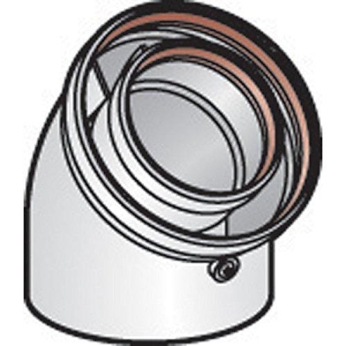Coude 45° DUALIS GP , diamètre 80/125 mm , pour chaudière gaz Réf. EC 45° 80 G.P / 17080721